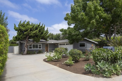 Encinitas/Leucadia, Leucadia, Leucadia Beach Community, Leucadia/Encinitas Single Family Home For Sale: 182 Hillcrest Dr.