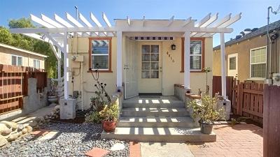 San Diego Single Family Home For Sale: 4816 Lantana Drive