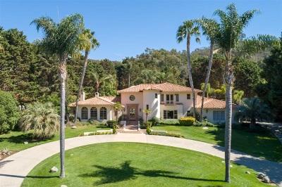 Rancho Santa Fe Single Family Home For Sale: La Orilla