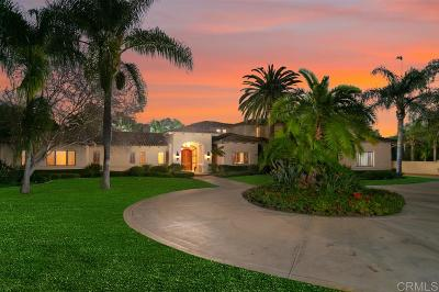 Rancho Santa Fe Single Family Home Sold: 14777 Rancho Santa Fe Farms Rd