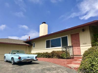 La Jolla Single Family Home Back On Market: 8675 Glenwick Ln