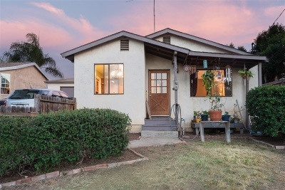 San Diego Single Family Home For Sale: 6605 Springfield St.