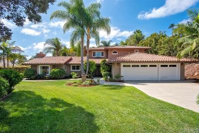 Encinitas Single Family Home For Sale: 2211 Running Spring Place