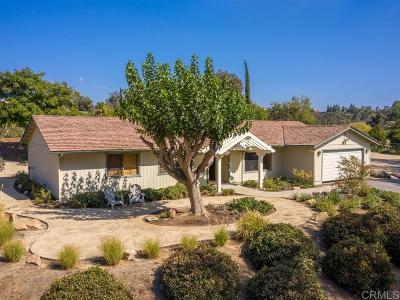 San Diego County Single Family Home For Sale: 30645 Ranch Creek Rd