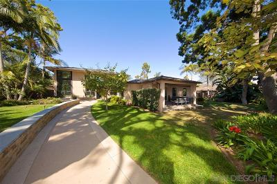 San Diego CA Single Family Home For Sale: $2,592,500