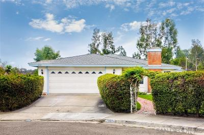 Encinitas Single Family Home For Sale: 2153 Pleasant Grove