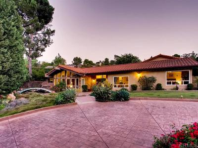 el cajon Single Family Home For Sale: Pence Drive