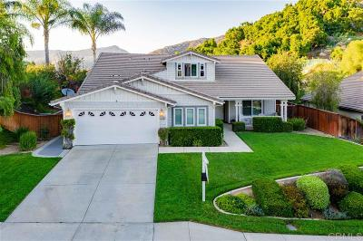 Escondido Single Family Home Sold: 3220 Meadow Creek