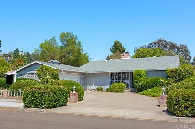 Del Cerro, Del Cerro Heights, Del Cerro Highlands, Del Cerro Terrace Single Family Home For Sale: 5689 Madra Ave