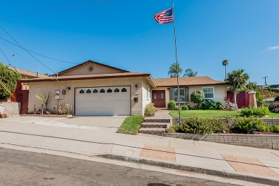 San Diego Single Family Home For Sale: 4789 Diane Ave