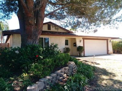 Escondido Single Family Home For Sale: 1249 Siggson Ave