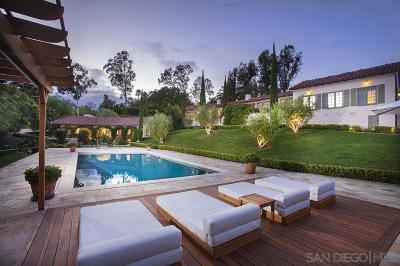 Rancho Santa Fe Single Family Home For Sale: 6557 La Valle Plateada
