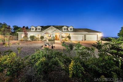 Valley Center Single Family Home For Sale: 31241 Rivoli Road
