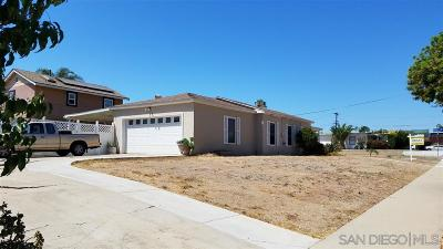 Chula Vista Single Family Home For Sale: 484 1st Avenue