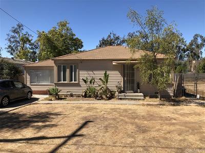 Escondido Single Family Home For Sale: 1211 S Orange St