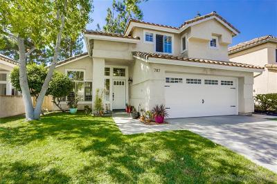 Oceanside Single Family Home For Sale: 787 Mosaic Cir