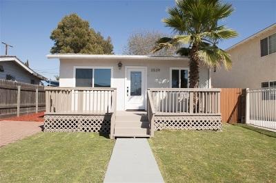 San Diego Single Family Home For Sale: 3539 Fairmount Ave
