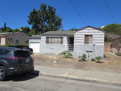 San Diego Single Family Home For Sale: 5458 Grape St