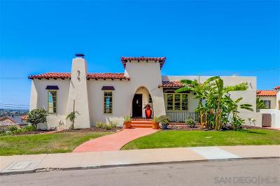 San Diego CA Single Family Home For Sale: $1,245,000