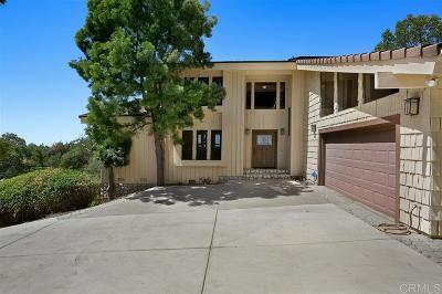 Fallbrook Single Family Home For Sale: 2248 Mil Sorpresas Dr