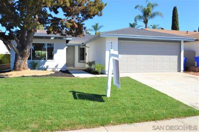 Single Family Home For Sale: 8328 Lapiz Dr