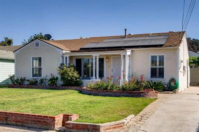 Chula Vista Single Family Home For Sale: 254 Shasta St
