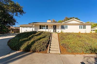 Escondido Single Family Home For Sale: 1284 Oasis Drive