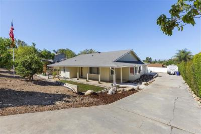 Single Family Home For Sale: 1142 Rancho Ryan Rd