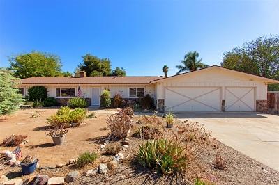 Escondido Single Family Home For Sale: 11029 Arco Dr