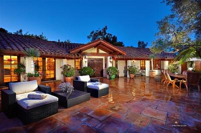 Rancho Santa Fe Single Family Home For Sale: 16204 Los Arboles