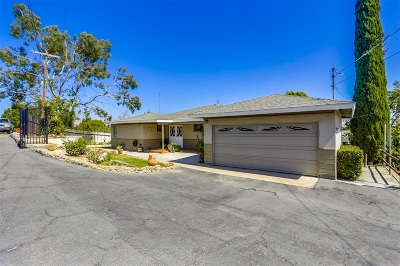 Escondido Single Family Home For Sale: 1704 Tobacco Rd