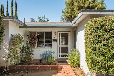 Escondido Single Family Home For Sale: 705 S Juniper St
