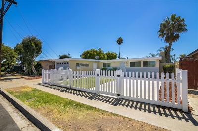 Clairemont, Clairemont Mesa, Clairemont Mesa East, Clairemont Unit 16, Clairmont Single Family Home For Sale: 5103 Conrad Ave