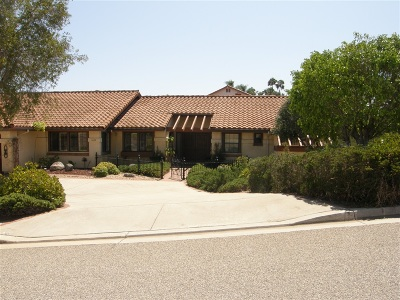 Escondido Single Family Home For Sale: 1409 Mandeville Drive