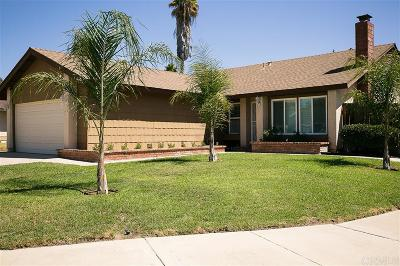 Escondido Single Family Home For Sale: 1462 Red Bark Rd
