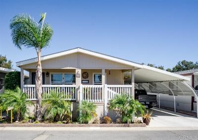 San Diego County Mobile/Manufactured For Sale: 200 N El Camino Real #396