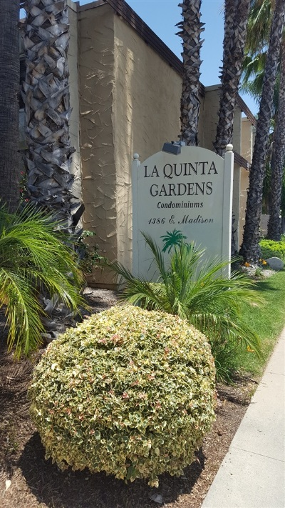 San Diego County Attached For Sale: 1386 E Madison Ave. #29