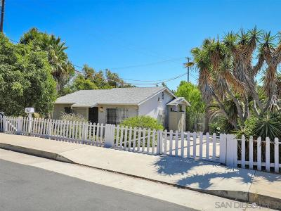 San Diego Single Family Home For Sale: 3569 Tompkins St