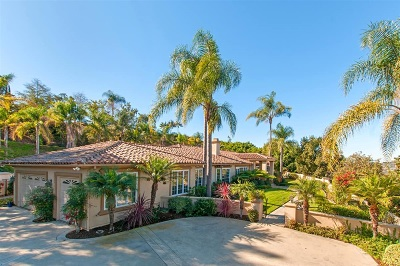Rancho Santa Fe Single Family Home For Sale: 18150 Via Ascenso