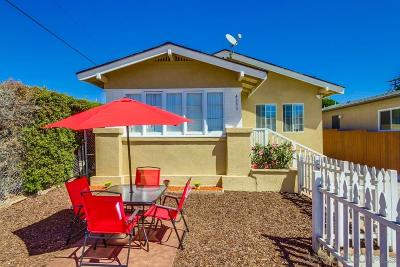 San Diego Single Family Home For Sale: 4295 48th St