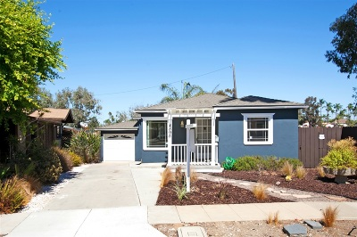 San Diego Single Family Home For Sale: 4895 Circle Drive