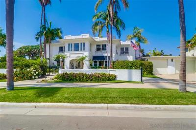 Coronado  Single Family Home For Sale: 848 Glorietta Blvd