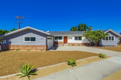 San Diego Single Family Home For Sale: 2314 Murray Ridge Rd