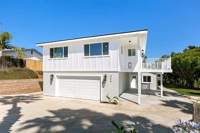 Encinitas CA Single Family Home For Sale: $1,325,000
