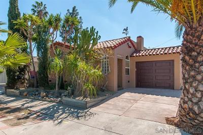 San Diego Single Family Home For Sale: 3189 Monroe