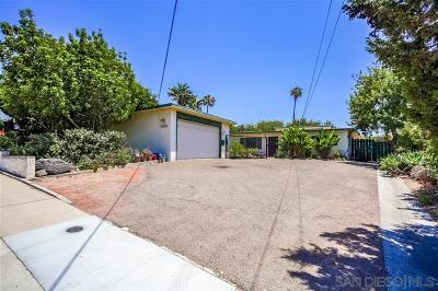San Diego Single Family Home For Sale: 5321 Prosperity Ln