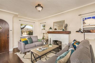 San Diego Single Family Home For Sale: 3254 Meade Ave