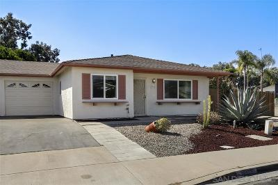 Oceanside Single Family Home For Sale: 3935 San Pablo Ave