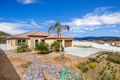 Bonsall CA Single Family Home For Sale: $899,000