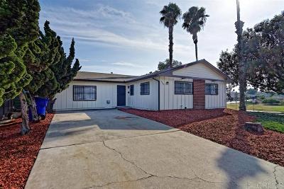 San Diego Single Family Home For Sale: 4945 Carolina Pl